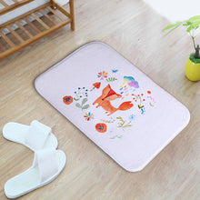 Europe Style Creative Fox Pattern Printing Doormat Flannel Door Entrance Bathroom Rugs Ultra Durable Kitchen Floor Mats