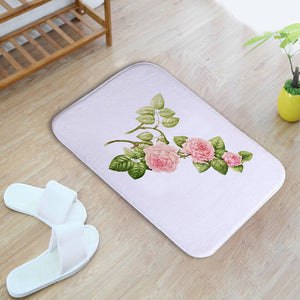 Homing Durable Doormats for Entrance Door Flower Printed Carpets Water Absorption Bathroom Rugs