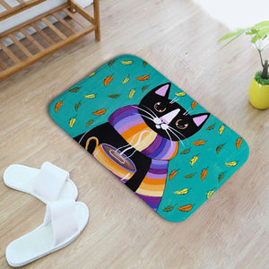 Cute 3d Stereo Cat Door Mat Toilet Bathroom Thickened Waterproof Bath mat Bedroom Rugs