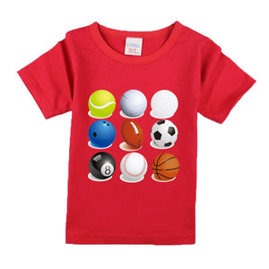 Children Kids Clothing Short Sleeve Solid Color Tees Baby Boys T-Shirts For Children Outwear
