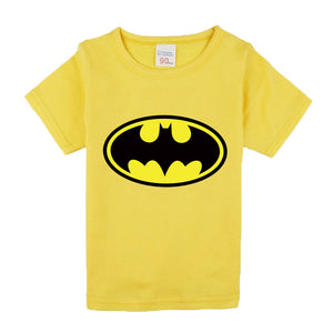 Comic Super Hero Short Sleeve T-Shirt Children Clothing Flash Cartoon Movie Batman T-Shirts