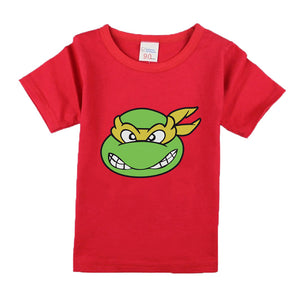 Teenage Mutant Ninja Turtles Short Sleeve Casual Baby Boys T-shirt Cool Print Tops Fashion