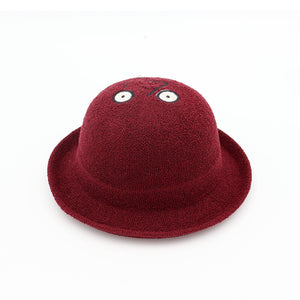 Dome Curling Small Hood  Casual Cloth Embroidery Weaving Straw Sun Hat