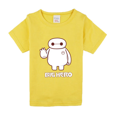Short Sleeve Comic Super Hero O-neck T-Shirt Children Clothing Big Hero Movie Pattern T-Shirts