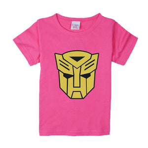 Comic Super Hero Short Sleeve T-Shirt Children Clothing Transformer Movie Happy Baby T-Shirts