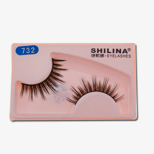 SHILINA Cross-over Fiber False Eyelashes Natural Sweet Makeups for Girls (1 pair)