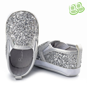 Glitter Sequined Indoor Shoes Soft Shoe Sole for Baby Girl 0-1 -year-old