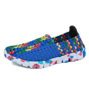 Women Breathable Cloth Shoes Shallow Mouth Round Head Casual Sports
