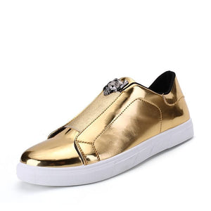 Lustrous Vamp Slip-On Casual Shoes Panther Buckle for Men (1 pair)