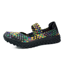 Vancat Womens Weave Spring Autumn Mixed Color Casual Shoes