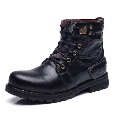 Autumn Mens Ankle Military Boots