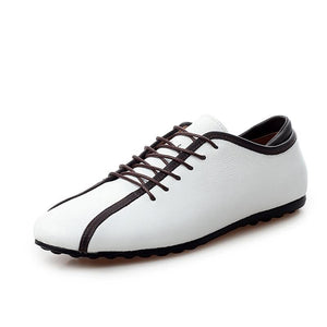 Artificial Leather Vamp Shoes Thin and Flat Casual Shoes for Men (1 pair)
