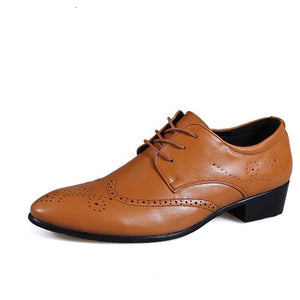 Fashion Men Derby Shoes, Casual Brown Oxford Shoes For Men, High Quality Soft Men Oxford (1 pair)