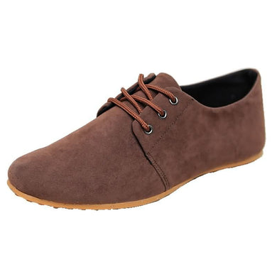 Plain Toe Lace Up Oxford Matte Leather Shoes for Men (1 pair)