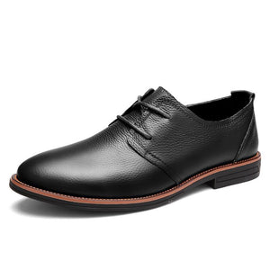 Genuine Leather Men Flats , Men Oxfords Formal Shoes (1 pair)