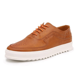 Winter Fashion Elevator Shoes Casual Leather Lace Up Shoes for Men (1 pair)