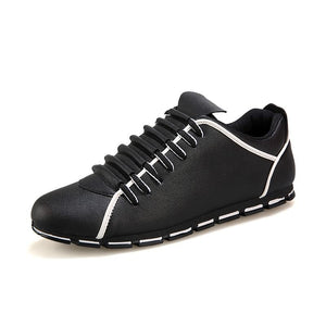 Fluent Liners Short Plains Tips Casual Leather Shoes for Men (1 pair)