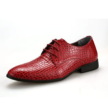 New Black/Red Men's Pattern Embossed Leather