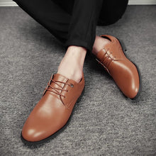 Mens Dress Shoes Formal Business Work Male Flats Men's Oxford Shoes (1 pair)