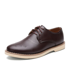 Men's leather shoes Genuine leather oxford shoes (1 pair)
