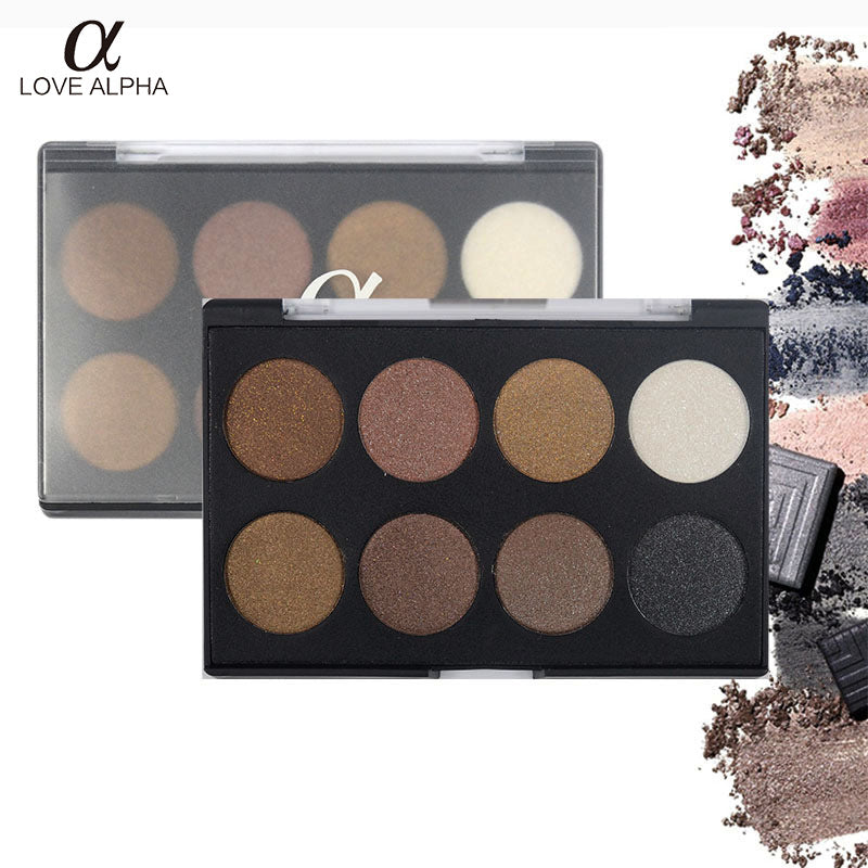 LOVE ALPHA 8 Colors Eyeshadow Palette Earth Toners Eyeshadow Palette