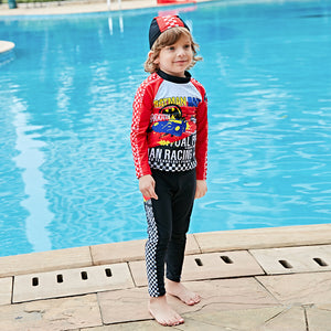 Boy Swimwear Funny Cartoon One Piece Swimsuit Batman Spiderman Bodysuit Captain America 2-8Y Kids Overall Beachwear