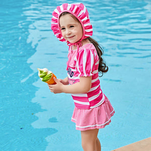 Two Piece 2 Swimming Suits Children's New Children Swimsuit Girl Split