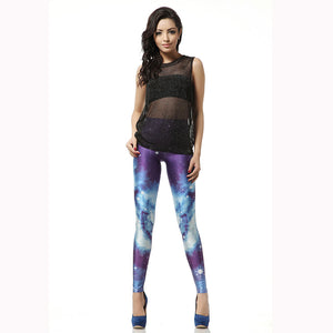 Galaxy Pattern Long Stretchy Leggings for Women