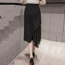 Asymmetrical Skirt with Joint Lace Long Skirts