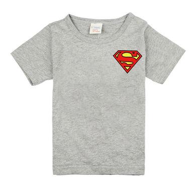 Super Hero Short Sleeve O-neck T-Shirt Children Clothing Superman Pattern Printing T-Shirts