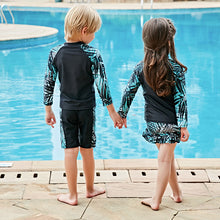 ong sleeve swimsuit for kids swimming suit boys girl two pieces swimwear uv protection shirt+pants unisex