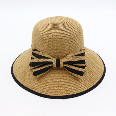 Spring and Summer Ladies Sun Shade Weaving Straw Outdoor Travel Beach Hat