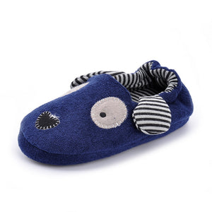 Cute Dog Stripes Slipper Bootie Shoes Toddler Shoes Non-slippery