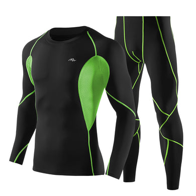 Black Green Wear-resistant Cool Sportswear Suits for Men