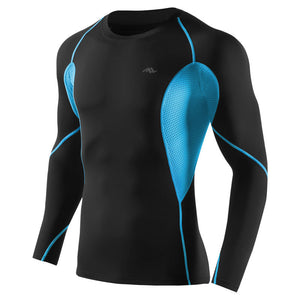 Black Sports Tights Quick-Drying Long-Sleeved T-Shirt Running Training Compression Fitness Clothes