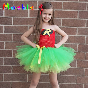 Robin Girl and Bat Girl Costumes Jumpsuit Dresses