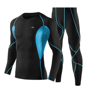 Quick-Drying Fitness Top Running Training Stretch Compression Clothes for Men