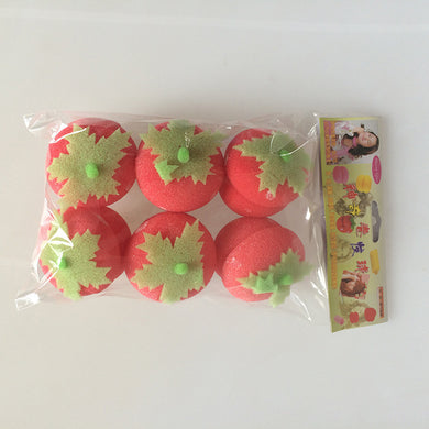 Sponge Curling Irons, Strawberry Rolls Serve Lovely Pear Hair Curls 6 Hair Styling Tools