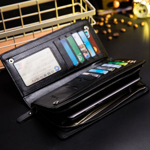 BABORRY Brand Men Wallets Leather Multi-functional