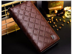 Men Wallets PU Leather Wallet Multi-functional Creative Models Long Paragraph Zipper Wallet