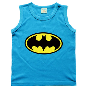 Children Kids Clothing Solid Color Batman Pattern Vest Baby Boys T-Shirts For Children Innerwear