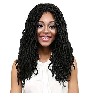 20inch Ombre Synthetic Senegalese Twist Crochet Braiding Hair Extension Havana Mambo Twist Long Curly Wig for Women