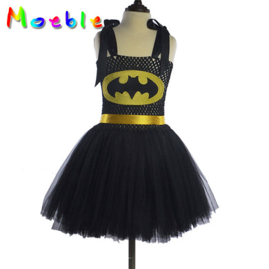 Bat Signal Yellow Bowtie Thick Straps Girl Costumes