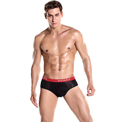 Solid Color Men's Sports Brief