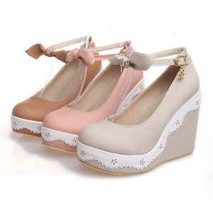 Pink Princess Wedges Platform Wedge Platform Pump