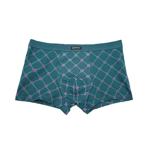 Plaid Check Pattern Men's Comfortable Stretchy Boxer Brief