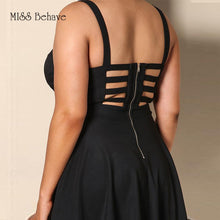 Lace Up Thick Straps Sun Dress