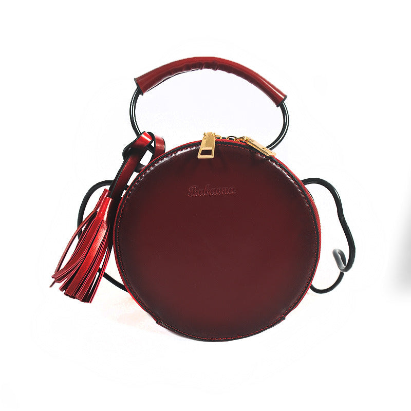 PU Bags Women Fashion Round Handbags Female Causal Messenger Bags Single-shoulder Bags