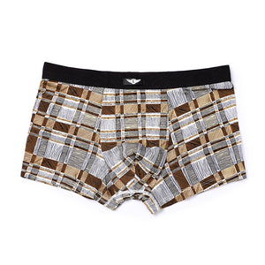 Plaid Check Pattern Fashion Men's Boxer Briefs