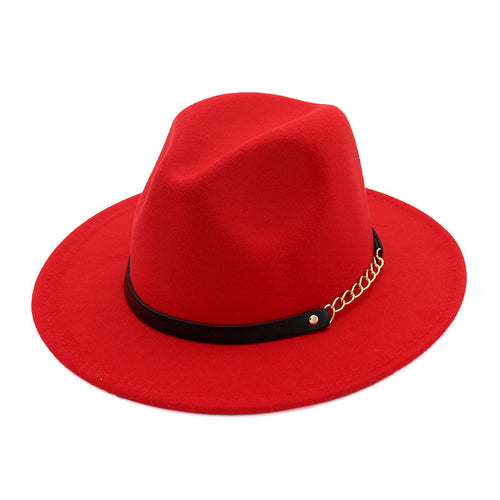 Solid Color Fedora Hat Classic Dress Hat for Women